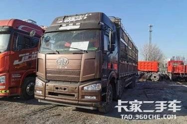 解放J6P前四后八9.6米高欄載貨車 420