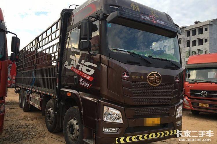 青岛解放 350马力 载货车
