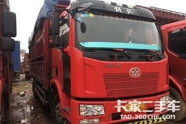 二手卡车载货车 一汽解放小J6、6米8高栏、 180马力