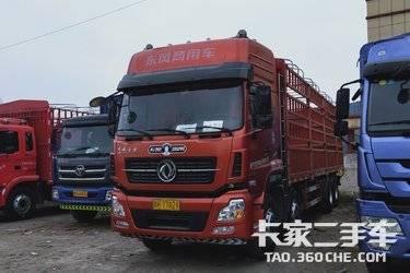 二手載貨車 前四后八9.6米倉欄東風商用車 天龍385馬力國五