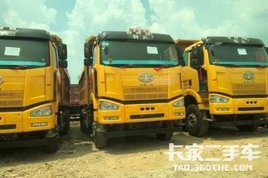 二手卡车国五解放后八轮批量出售
