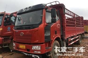 二手卡车解放小J6、六米八高栏、 240马力 五个月带全保