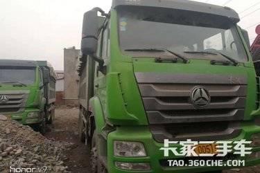 二手卡车渣土自卸车  重汽豪瀚 340马力