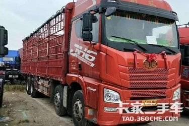 二手卡车载货车 青岛解放 375马力